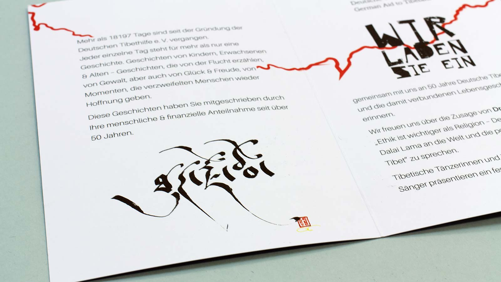 Folder Deutsche Tibethilfe, Illustration, brandtbrandt Design Studio Hamburg